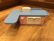 Vintage Playskool Dollhouse Furniture Rare Kitchen Dishwasher Island w/ Sounds