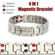 NUOVO 4 in 1 terapia magnetica forte uomo bracciale sollievo dolore salute Bio a