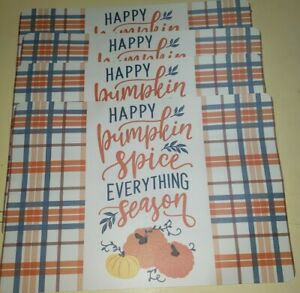 """Happy Pumpkin Spice Everything Season"" Placemats Set 4 Vinyl 17"" x 12"""