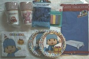 POCOYO Birthday Party Supplies Set Blue Pack w/ Candles &15 Balloons