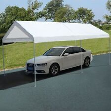 Portable Car Carport Garage Cover Steel Frame Canopy Shelter  Party Tent White