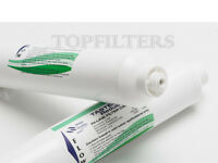 """2x IN LINE DRINKING WATER FILTER UNDER SINK REPLACEMENT 1/4"""" PUSH-FIT"""