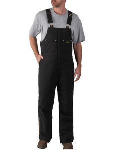 WALLS Flex Duck Insulated Work Overalls Jumpsuit Winter Bib Mens-XXL Black