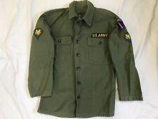 US ARMY VIETNAM COTTON FATIGUE SHIRT OG-107 ARMY EUROPE PATCH (USAREUR)