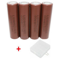 4X 18650 INR Battery 3000mAh Li-ion High Drain Rechargeable for Mod & Free Case