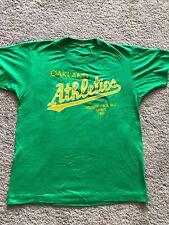 Vtg 80s Mlb Oakland Athletics A's 1988 Champs 50/50 Shirt