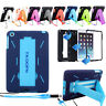 Hybrid Heavy Duty Shockproof Stand Hard Case Cover For Apple iPad 4 3 2 Air Mini