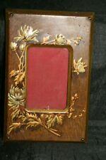 cadre porte photo 1900 art nouveau bois laiton carton