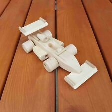 WOODEN CAR FORMULA ONE  WHIT NATURAL BEECH WOOD