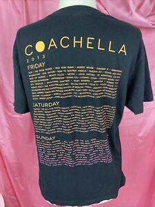 2013 coachella Weekend Lineup tshirt MEDIUM