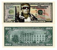 Pack of 25 - Donald Trump 2024 The Terminator Presidential Novelty Dollar Bills