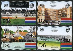 Gambie 577-580, Mi 584,586, 588,590, MNH Un 40th Anniv. Vues De Banjul, 1985