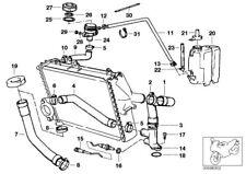 BMW K 75 100 RS RT LT Wasserschlauch hinten Kühler water hose 17121460416