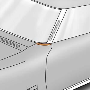 1968-1972 Corvette C3 Lower Windshield Pillar Fender Moldings Pair 622629