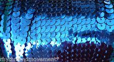Royal Blue 6mm Strip Chain Sequin Trim for Dance Costumes 5m