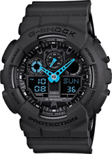 Casio G Shock GA-100C-8A Men's Blue Analog & Digital with Black Resin Band Watch