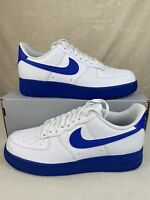 Nike Air Force 1 Low '07 White Game Royal Blue Midsole CK7663-103 Men's Size 8.5