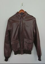 VTG Willis & Geiger Type A-2 Mens Leather Flight Jacket Army Air Force Brown 40L