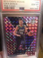 Mosaic 2019-20 NBA Mavericks Luka Doncic Pink Camo Prizm Card *GEM MINT PSA 10*