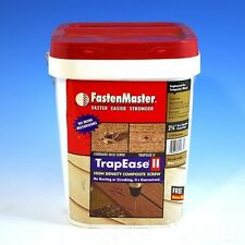 """Fastenmaster 2-1/2"""" TrapEase Composite Desk Screws 1750 ct.Dark Redwood"""