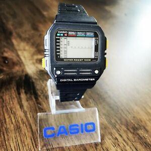 CLEAN Vintage 1989 Casio BM-100W Digital Barometer Watch, Made in Japan, Mod 510