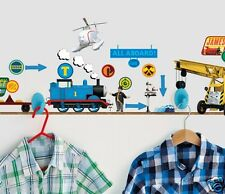 Ready Room Thomas & Friends Dress With Me Clothes Hook & 30 Vinyl Wall Stickers