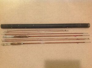 2 Vintage 9' Bamboo 3 pc. unbranded Fly Rods