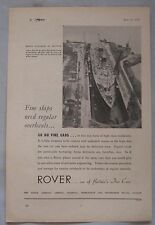 1950 Rover Original advert No.2