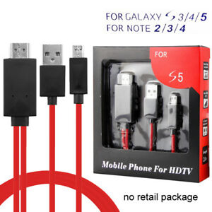 11Pin Micro USB to HDMI 1080P HD TV Cable Adapter for Android Samsung Cell Phone