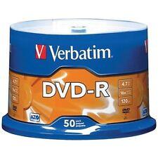 Bulk Carton lot 6x Blank DVD-R 4.7GB 50 Pk Branded Verbatim # 95101