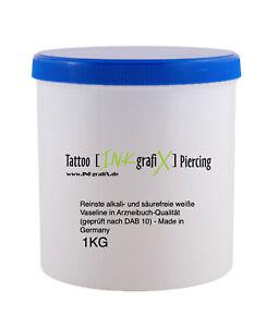 (10,97€/kg) TATTOO 1Kg Premium Vaseline - INKgrafiX® Studio PROFI Creme DEUTSCH