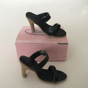 "Kingstate Doll Shoes Black Sandals 16""  Tyler Gene Original Box"