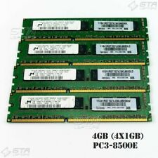 4GB (4x1GB) Micron Server Memory Ram 1Rx8 PC3-8500E MT9JSF12872AY-1G1D1
