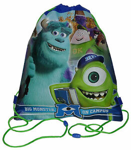 Sling Bag Tote Drawstring Non-Woven Monsters University Inc NEW