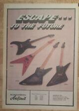 Aria Pro II 2 guitars  1982  press advert Full page 27 x 38 cm mini poster