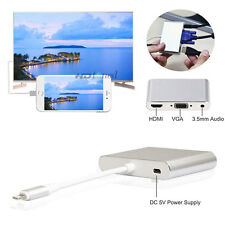 Lightning to HDMI TV / VGA Projector / Audio Adapter for iPhone 5 5s 6 6s 7 Plus