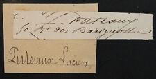 Antique French LUCIEN LOUIS PUTEAUX Signed Autograph BATIGNOLLES Paris France