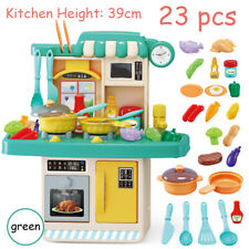 23PCS Kitchen Kids Playset Pretend Play Toy Cooking Set Light Sound Effect Xmas