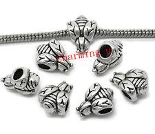 4pz  distanziali spacer beads APE 15x12mm colore argento tibet