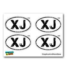 XJ Distressed Euro Oval - Cherokee - Set of 4 - Window Bumper Stickers