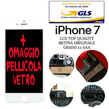 SCHERMO LCD DISPLAY PER IPHONE 7 BIANCO RETINA ORIGINALE CON FRAME TOUCH IOS 11