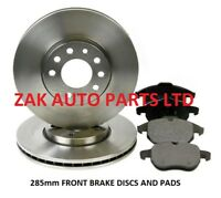 VAUXHALL VECTRA C 1.8 1.9 2.0 2.2 CDTI 285mm FRONT 2 BRAKE DISCS AND PADS SET