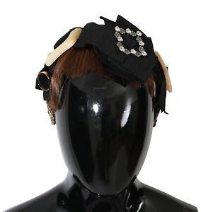 NEW $1900 DOLCE & GABBANA Diadem Headband Clear Crystal Brown Hair Parrucchiera