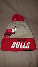 NEW ERA CHICAGO BULLS SOLID HIT POM BEANIE ADULT HAT RED GREY 80165901 NEW MENS