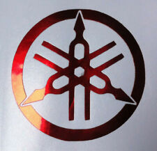 4 X RED MIRROR CHROME   YAMAHA FORKS   VINYL DECAL STICKERS    40mm
