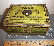 vintage YALE smoking tobacco tin, Marburg Bros Baltimore great graphics & colors