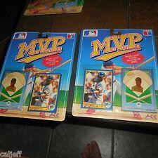 2 LOT RARE PACKAGE VARIATION KEN GRIFFEY JR 1990 ACE NOVELTY CO MVP CARD & PIN