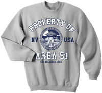 Area 51 sweatshirt, Property of Area 51 sweatshirt, UFO, Nevada shirt, Alien