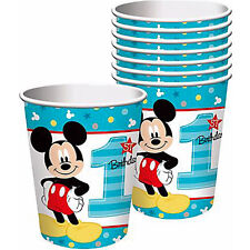MICKEY MOUSE Fun to Be One 9oz PAPER CUPS (8) ~ Birthday Party Supplies Drink