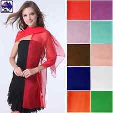 Women Chiffon Scarf Soft Silk Wrap Pashmina Shawl Long Voile Stole CSCA160